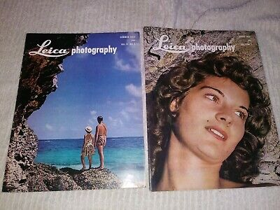 Pair of 1953 Leica Photography Magazine spring & summer vintage photo camera