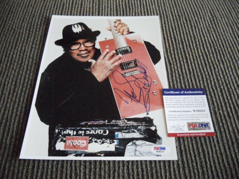 Bo Didley Blues Signed Autographed 8x10 Promo Color Photo PSA Certified