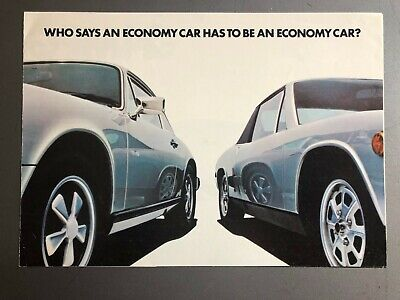 1974 Porsche 911 & 914 Showroom Sales Folder / Brochure RARE!! Awesome L@@K