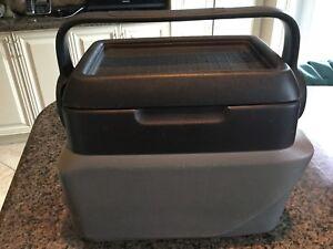 Pontiac Aztek Center Console Armrest Cooler (2 tone Grey)