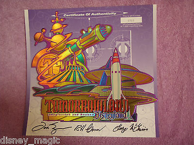 Disney Disneyland Commemorative Tomorrowland Grand Reopening Tickets Passport