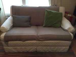 FREE off white love seat with pullout bed