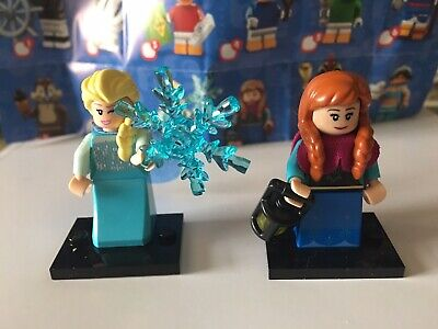Disney LEGO Series 2 minifigures lot of 2 - Anna and Elsa from FROZEN princess