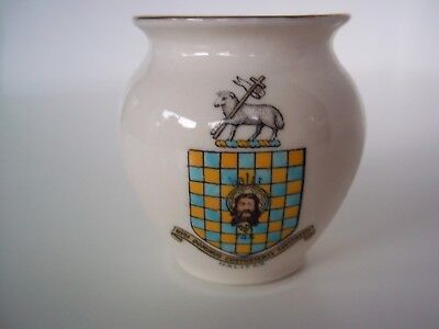 W.H.Goss China Crested Ware Vase (Halifax Coat of Arms)