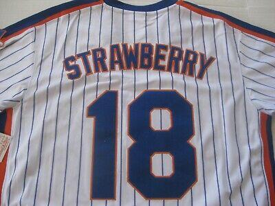 DARRYL STRAWBERRY 1986 NEW YORK METS SEWN JERSEY SIZE 44 LAR