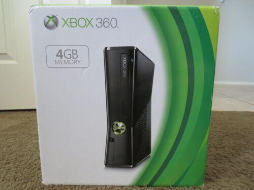 NEW+Microsoft+Xbox+360+4GB+Black+Console+Slim+System+4+GB+S