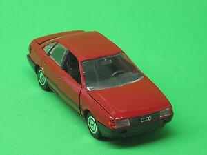 Audi 80 quattro rot 1:43 Schabak N°1035 Made in Germany Modellauto