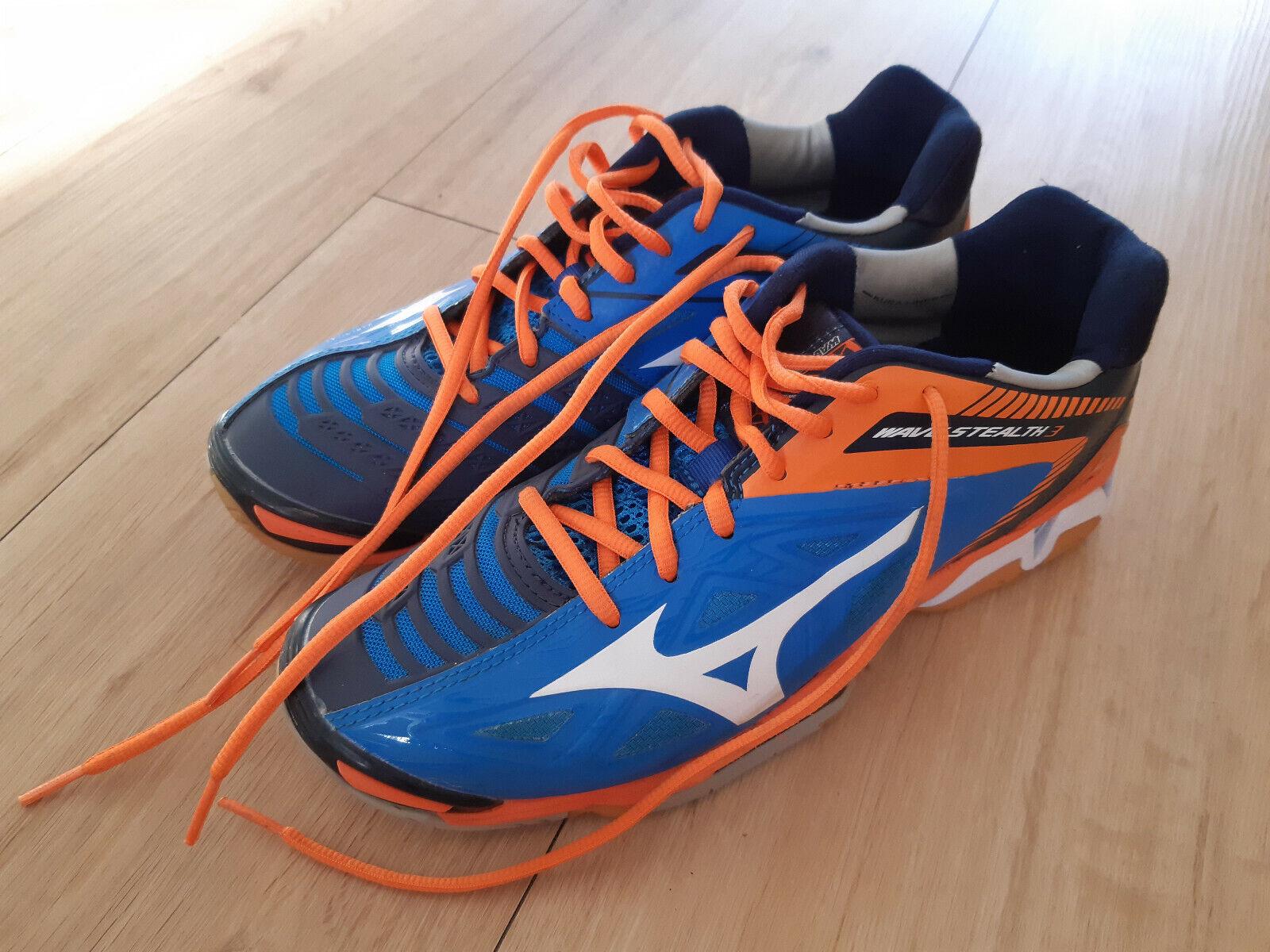 Mizuno Handballschuhe Wave Stealth 3 blau-orange Größe 40,5