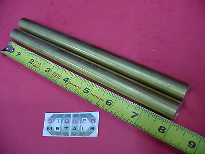 2 Pieces 58 C360 Brass Solid Round Rod 8 Long H02 Lathe Bar Stock 12 Hard