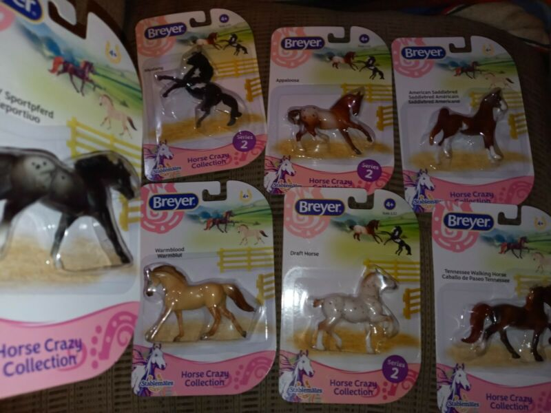 BREYER HORSES MIXED LOT OF 7 NICE COLLECTABLE VINTAGE to New SEALED Series 1 & 2