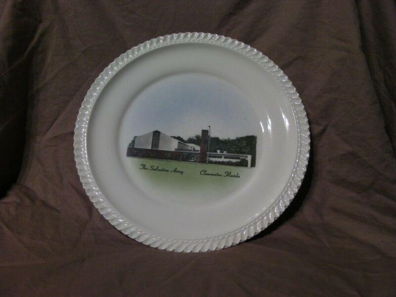 1960s SALVATION ARMY CLEARWATER FLORIDA FL SOUVENIR PLATE Corps Church Officers2