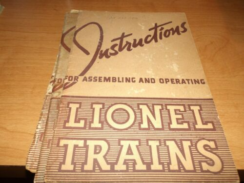 Lionel Trains Instructions for Assembling, 1940, Clean and complete, (D10)