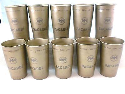 10 Bacardi Cuba Libre 12 ounce metal cups - NEW