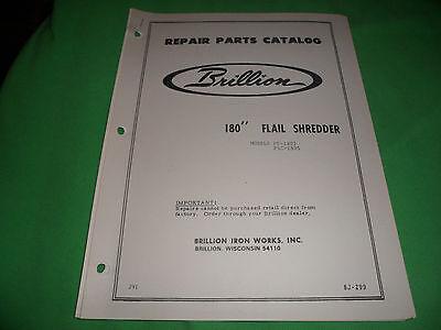Drawer 16 Brillion 180 Flail Shredder Fs-1805 Fsc-1805 Repair Parts Catalog