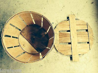 NEW Crab Bushel Basket with LID
