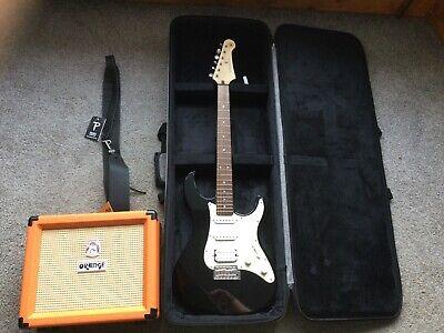 Yamaha Pacifica 012 Electric Guitar w/ Kinsman Case and Orange Crush 20 Amp