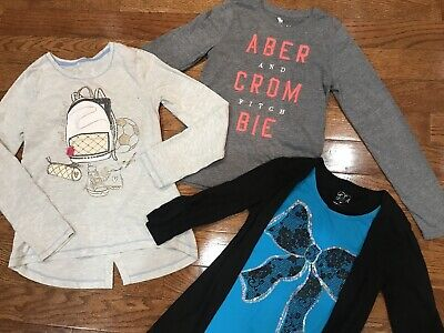 Girls Size 10 Justice Shirts Tops Jillians Abercrombie Kids Clothing Gray Lot