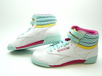 REEBOK FREESTYLE JUNIOR WHITE PINK COOL BREEZE V63067 GIRLS SHOES ](Cool Girls Shoes)