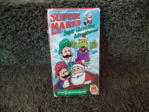 Super Mario Bros. Super Christmas Adventures VHS DIC Toon Time Cartoon