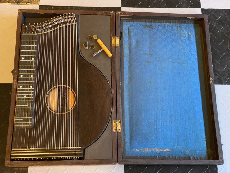 WOW! Antique Franz & Schwarzer Zither w/ Wood Case Washington Missouri