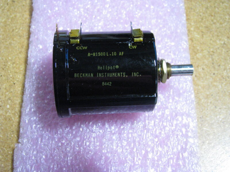 BECKMAN INSTRUMENTS VARIABLE RESISTOR # A-R1500L.10AF NSN: 5905-01-176-5536