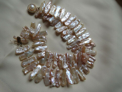 14KT Gold Pearl Clasp Keshi Pearls Bracelet