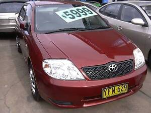 2002 Toyota Corolla Sedan. Fully Serviced and Inspected Granville Parramatta Area Preview