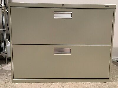 Hon 600 Series 36 Wide 2- Drawer Lateral File Cabinet In Putty Hon682ll