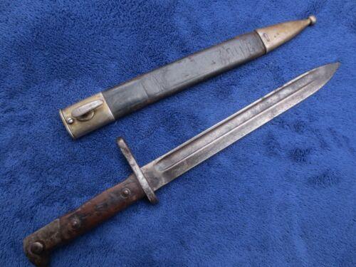 ORIGINAL SPANISH M 1893 GERMAN MADE  BAYONET AND SCABBARD