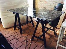 Black glass desk trestle Scarborough Stirling Area Preview