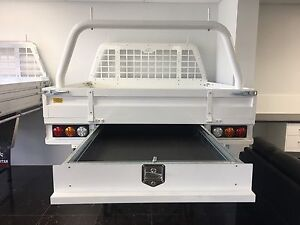 Spartan Steel Ute Trays - White Powdercoated Malaga Swan Area Preview