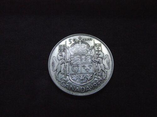 Canada 1950 Silver Half Dollar, Half Design in 0