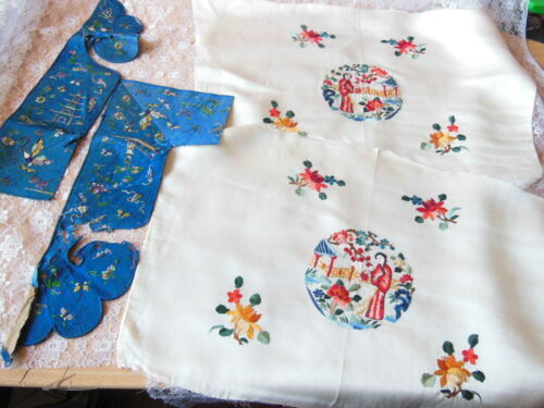 Antique Chinese Embroidered Fabric Pieces