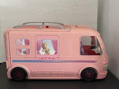 Mattel Barbie Dream Camper Pink RV Bus Home Van Motor Playset Missing top hooted