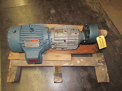 Reliance Electric Motor Wforced Control Clutchbrake And Flex-in-line Reducer