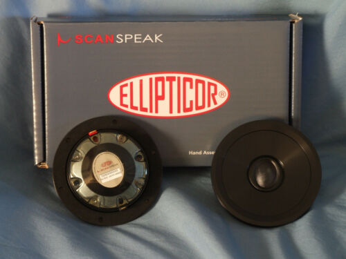 Pair (2) ScanSpeak Ellipticor D2404/552000 4 Ohm Tweeters Nice!