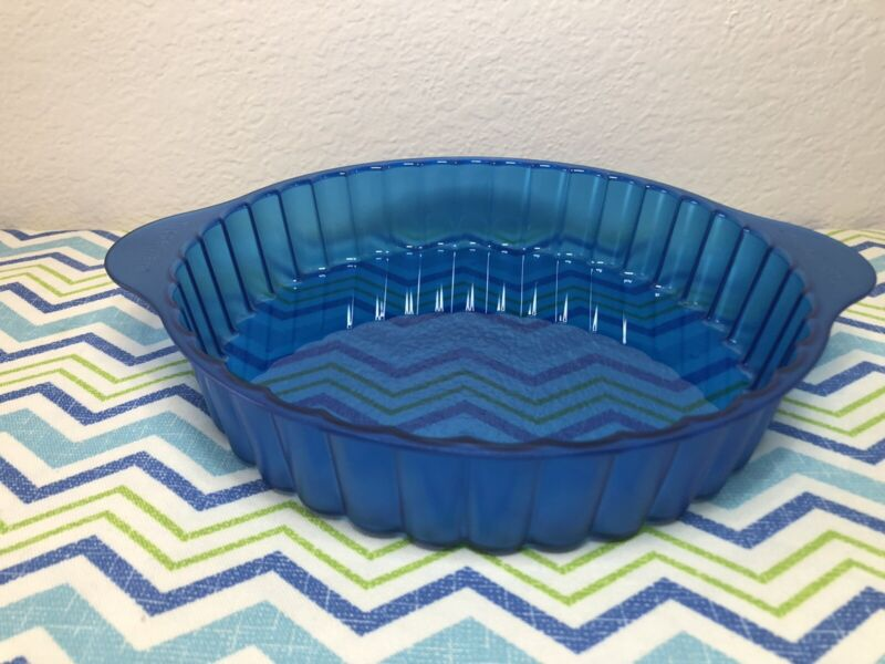 Tupperware Microwave Round Cake Pie Pan Mold Teal 7 Cups New
