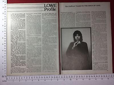 Nick Lowe profile magazine article 1978