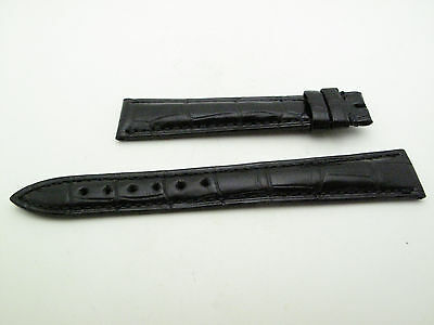 Blancpain Black croc alligator Strap 15mm/12mm BRAND NEW 105mm/70mm length 100%
