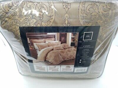 Chic Home 9 Piece Como Decorator Upholstery Comforter Set, King, Gold Gold King Comforter