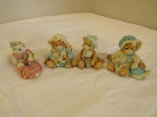 Vintage Calico Kittens Lot of 4 by Enesco collection