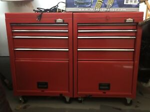 Red tool chests