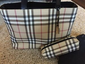 Burberry bag+cosmetic case