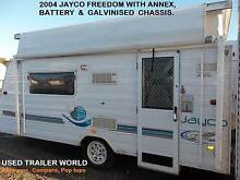2004 JAYCO FREEDOM POP TOP CARAVAN WITH ANNEX & BATTERY. Heathcote Sutherland Area Preview