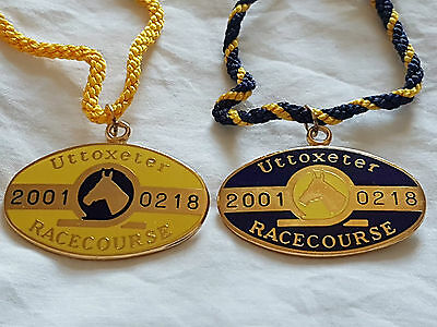 Uttoxeter 2001 Matching Pair (Horse Racing Members Badges)