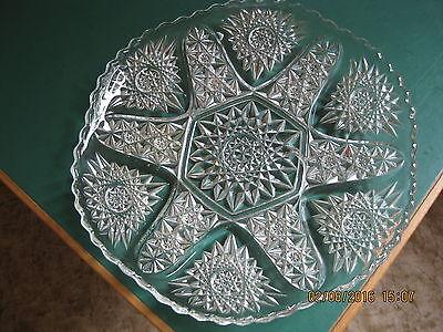 Alte Glas Servierplatte/ Kuchenteller