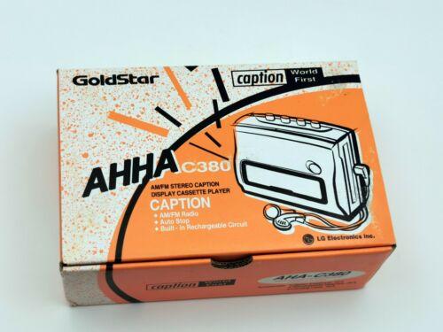 GoldStar (LG) AHA-C380 FM/AM Cassette Walkman NIB