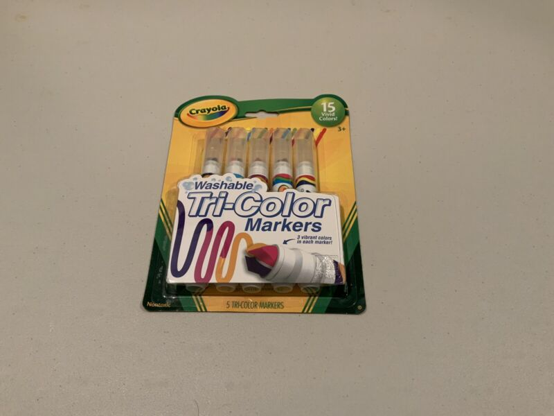 Crayola Washable Tri-Color Markers