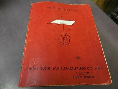 John Fluke Model 803803r Dc-ac Differential Voltmeter Instruction Manual