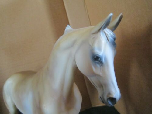 Peter Stone Horse TEST Pale Palomino Thoroughbred  SIGNED by BOTH  P&E STONE EXC